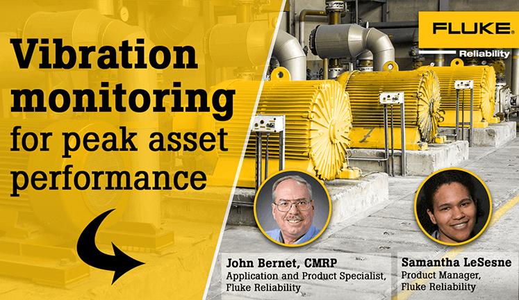 Vibration monitoring for peak asset performance