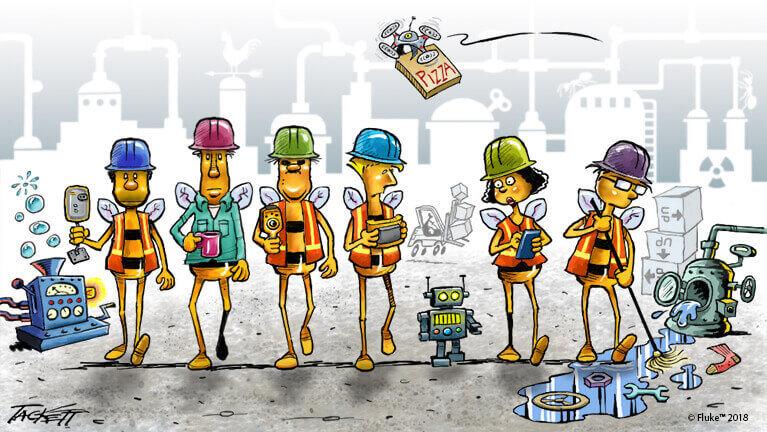 Fluke Accelix presents The Hive comic strip series